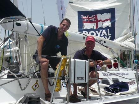 Darren & Michael on board Adventure 1