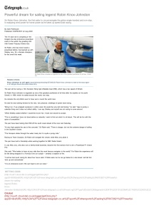 Powerful dream for sailing legend Robin Knox-Johnston - Telegraph[1]
