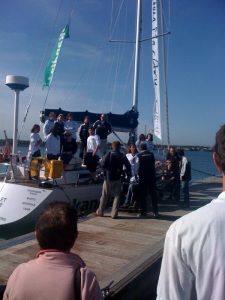 The EMT boat Scarlet Oyster returns safe and sound