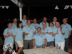 The 'Disco' crew enjoying some R&R in Cape Town prior to departure